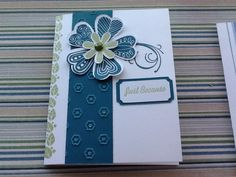 CTMH pretty petals card with art philosophy Cricut cartridge
