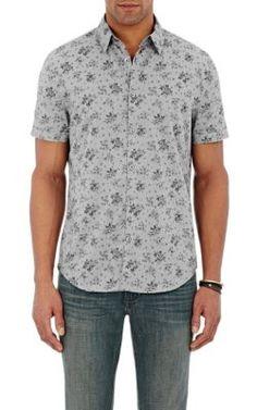 John Varvatos Star U.S.A. Floral Short-Sleeve Shirt at Barneys New York