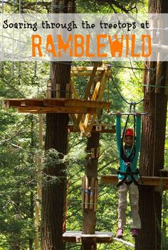 Ramblewild's treetop adventure course in the Berkshire Mountains of Massachusetts is so much more than a zipline or typical ropes course. It is a great way to challenge yourself, build confidence, and enjoy nature together as a family.