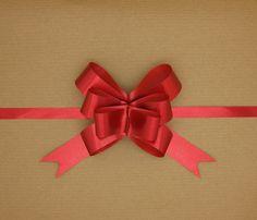 Pop-up Gift Bow Matte Metallic Red