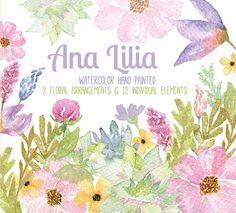 #watercolor #florals #flowers #clipart #wedding #invitations #nature #bridetobe #invites #centerpiece #bodas #matrimonio