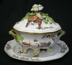 Meissen porcelain Lobster soup tureen like Graeme Woods gave to Bronwyn