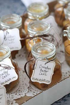 Cinnabun butter cake in a jar. Great for bake sales!