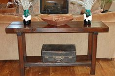 The Kevin Wormy Fir Kitchen Island Sofa Entry Table by thelakenest, $650.00