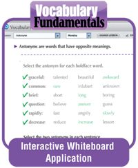 Over 150 pages of scaffolded practice on vocabulary skills and concepts such as synonyms, antonyms, homophones, heteronyms, root words, prefixes, suffixes, and more make this resource the perfect way to strengthen your core language program. And with fun features such as engaging Word Play activities at the end of each book, students will enjoy expanding their vocabularies while they complete puzzles and riddles.