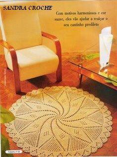 modelos dos tapetes de crochê