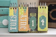 *We R* Perpetual Calendar - Scrapbook.com - Made with We R Memory Keepers supplies.