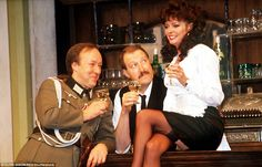 The actor starred as reluctant resistance figure and cafe owner Rene Artois for 10 years in the hit sitcom. British Sitcoms, British Comedy, English Comedy, Comedy Series, Comedy Tv, Vicki Michelle, Nylons, Miranda Hart, Vintage Tv