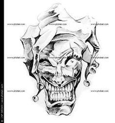 Evil Jester Tattoos Fairy Joker Skull And More Tattoo Pos Jester Tattoo, Evil Skull Tattoo, Clown Tattoo, Skull Tattoo Design, Skull Tattoos, Tattoo Designs, Evil Tattoos, Tatoos, Tattoo Sketches