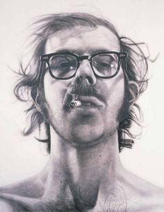 One of my all time favorite paintings by one of my all time favorite artists Chuck Close.  Almost 12 feet tall.