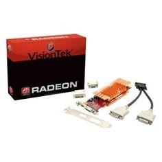 Visiontek 900327 Radeon 5450 Graphic Card - 550 MHz Core - 512 MB DDR3 SDRAM - PCI Express x16. RADEON 5450 PCIE2 LP/ATX 512MB DP/DMS59 TO 2XDVI/1X VGA ADAPT 250W V-CARD. DisplayPort by VisionTek. $178.72. Manufacturer: VisionTek Products, LLC Manufacturer Part Number: 900327 Brand Name: Visiontek Product Model: 900327 Product Name: 900327 Radeon HD 5450 Graphics Card Marketing Information: The VisionTek ATI Radeon HD 5450 512MB SFF DMS59 x16 PCIe graphics card ...