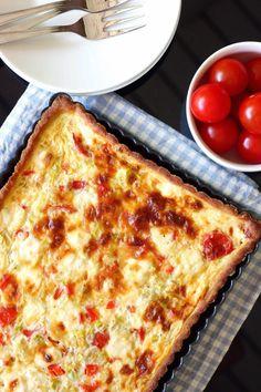 Tosi maukas kasvispiirakka - Suklaapossu New York Style Pizza Dough Recipe, Best Pizza Dough, Good Pizza, No Salt Recipes, Veggie Recipes, Vegetarian Recipes, Veggie Food, Savory Pastry, Ground Beef Casserole
