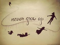 Peter pan tattoo– I'm typically against getting Disney characters or things of that nature but I LOVE THIS IDEA! Peter pan tattoo– I'm typically against getting Disney characters or things of that nature but I LOVE THIS IDEA! Peter Pan Tattoos, Disney Tattoos, Tatuaje Peter Pan, Jm Barrie, Geniale Tattoos, Never Grow Up, Disney Quotes, Favim, Disney Love