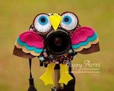 Lens Bling  Brown Parrot  Ready to Ship by HappyAcresFarm on Etsy, $21.00