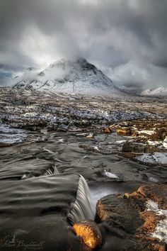 Glencoe at the Cauldron looking towards Buachaille Etive Mor, Scotland