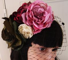 summer rose garden fascinator by hapitat