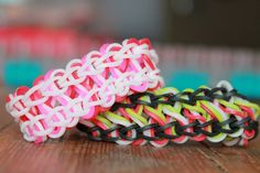 Rainbow loom, Nederlands, Taffy Twist, armband, bracelet