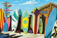 Surf Shack Print by Scott Westmoreland