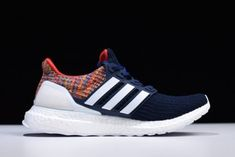 best service 47f96 5016e adidas Ultra Boost D11 Multicolor Navy Blue White-Red For Men-5 New Adidas