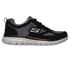 Skechers Men's Burns Agoura Memory Foam Training Shoes (Black/Gray)