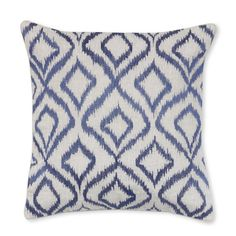 Diamond Ikat Embroidery Pillow Cover, 18