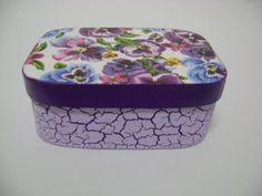 Caixa de sabonete Violetas