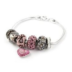 Learn how to make this Love Becharmed Bracelet using a gorgeous selection of Swarovski Becharmed beads and charms! <3