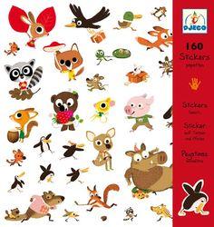 Djeco DJ08833 Supertoffe stickerset Patapafs gekke dieren