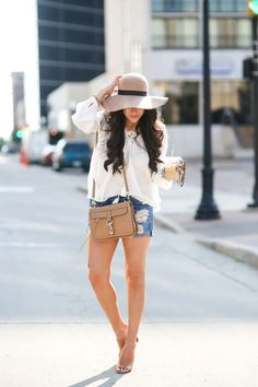 Floppy Hats & Boyfriend Shorts