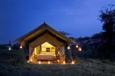 Serengeti Under Canvas, run by renowned , is a luxurious tented camp within the Sergenti National Park. The annual movement of 1.5 million wildebeest across the Serengeti-Mara ecosystem is one of the greatest spectacles in the natural world and the camp moves around the park year round, following the Great Migration. This is definitely going on my bucket list . . .