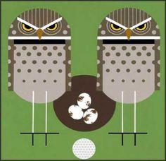 Charley Harper lithograph-Birdie