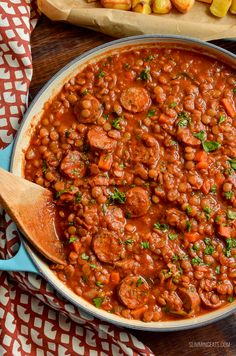 Low Syn One Pot Sausage and Lentil Casserole - super easy recipe that the whole family will enjoy Slimming World Soup Recipes, Slow Cooker Slimming World, Lentil Recipes, Beef Recipes, Cooking Recipes, One Pot Recipes, Slow Cooker Sausage Recipes, Recipies, Low Calorie Stew