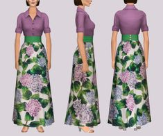 Vulrien Sims Sims 2, Swatch, Clothes For Women, Female, Pretty, Skirts, Pattern, Cas, Dresses