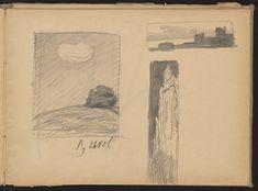 Muzeum Cyfrowe dMuseion - Trzy szkice: a) obłok, b) nad rzeką, c) fasada kościoła