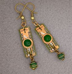 Recycled CIRCUIT BOARD Steampunk EARRINGS by DebbyAremDesigns