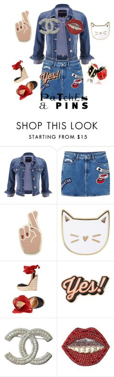 """""""Pins and Patches"""" by styledbytjohnson ❤ liked on Polyvore featuring maurices, MANGO, Georgia Perry, Des Petits Hauts, Dsquared2, Anya Hindmarch, Chanel, Gucci, Bling Jewelry and patchesandpins"""