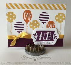 Balloon Bash #happybirthday #hashtags #earnfreecards - Stamps To ...