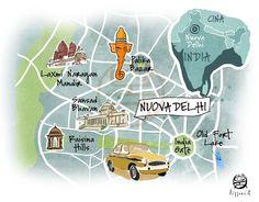 Cristiano Lissoni - Map of New Delhi