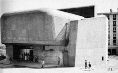 claude parent and paulo virilio - st bernadette of banlay chaurch, nevers, france, 1964