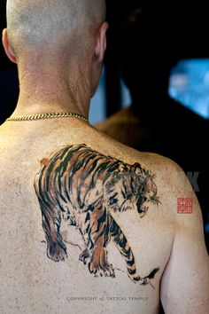 Tattoo Temple HK - Chinese painting style tiger tattoo ; Apprentice Galleries