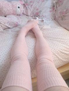 pink thigh highs