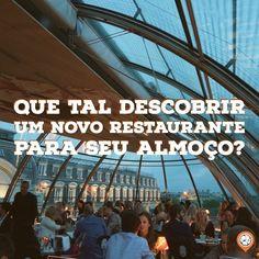 Descubra novos #restaurantes. tochegando.tur.br/ Ferris Wheel, Fair Grounds, Travel, Tips, Restaurants, Viajes, Destinations, Traveling, Trips