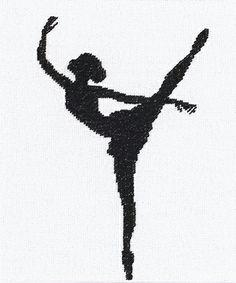 Ballet Silhouette Cross Stitch Kit By Lanarte (two)