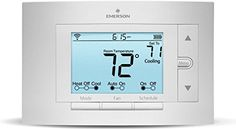 Emerson Thermostats Sensi Smart Thermostat, Wi-Fi, Works With Alexa Home Camera, Camera Phone, Office Under Stairs, Best Wifi, Smart Home Technology, Simple App, Home Tools, Works With Alexa, Heating And Cooling