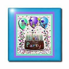 """6th Birthday Party Invitation Chocolate Cake - 12 Inch Ceramic Tile by Beverly Turner Photography. $22.99. Image applied to the top surface. Dimensions: 12"""" H x 12"""" W x 1/4"""" D. Construction grade. Floor installation not recommended.. High gloss finish. Clean with mild detergent. 6th Birthday Party Invitation Chocolate Cake Tile is great for a backsplash, countertop or as an accent. This commercial quality construction grade tile has a high gloss finish. The image is ..."""