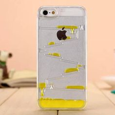 35fa7713e 50X Unique For iPhone 5 Liquid Case Water Drops Flowing Clear Hard Back Cover  Transparent Plastic