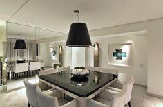 mesa de jantar quadrada de luxo