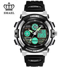 New SMAEL Children Watches Sport Waterproof Shock Resistant LED Display Digital Watch for Boys Cartoon Watch Kids Gifts WS0508A