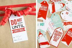 Gift tags - Printable!