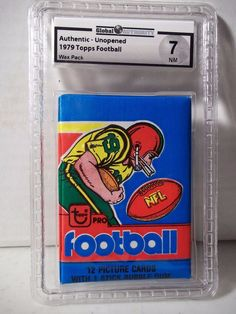 1979 Topps NFL Football Wax Pack GAI NM 7 Possible Earl Campbell Rookie Card #NFLCollectible